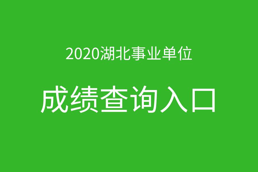 2020年湖北事业单位统考笔试成绩查询入口