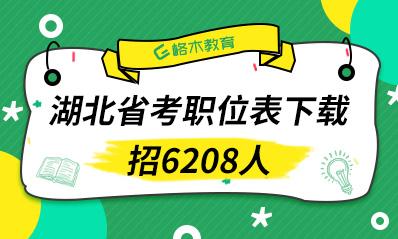 2021年湖北省公务员考试职位表(6208人)